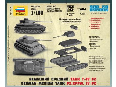 Zvezda - Panzer IV Ausf.F2, 1/100, 6251 2