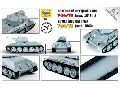 Zvezda - Soviet Medium Tank T-34/76, 1/72, 5001 2