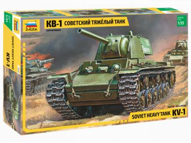 Zvezda - Soviet Heavy Tank KV-1, Scale: 1/35, 3539