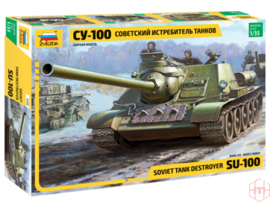 Zvezda - Soviet Tank Destroyer SU-100, Mastelis: 1/35, 3688