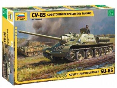 Zvezda - Soviet Tank Destroyer SU-85, Mastelis: 1/35, 3690