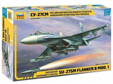 Zvezda - Russian Air Superiority Fighter Su-27SM, Mastelis: 1/72, 7295